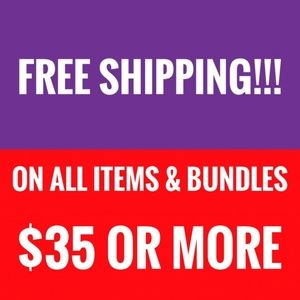 Free Shipping on ALL items & Bundles $35+